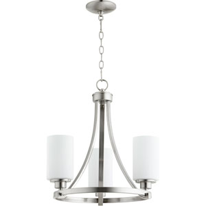 Manchester Satin Nickel Three-Light Chandelier