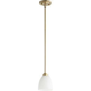 Mansfield Aged Brass One-Light Mini Pendant