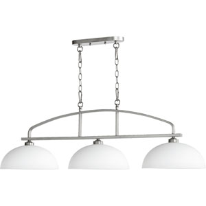 Mansfield Brushed Nickel 13-Inch Three-Light Pendant