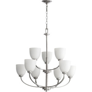 Mansfield Brushed Nickel Nine-Light Chandelier