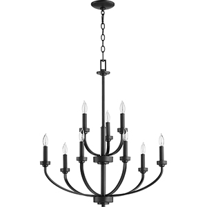 Mansfield Black Nine-Light Chandelier