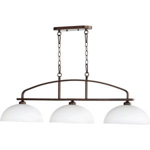 Mansfield Oiled Bronze 13-Inch Three-Light Pendant