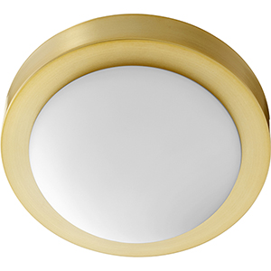 Trio Aged Brass Nine-Inch One-Light Flush Mount