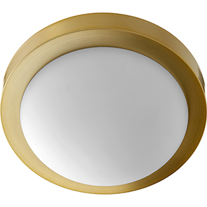 Trio Aged Brass 11-Inch Two-Light Flush Mount
