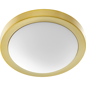 Trio Aged Brass 13-Inch Two-Light Flush Mount