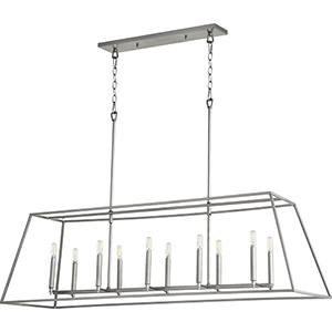 Windsor Brushed Nickel 10-Light Pendant