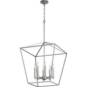 Windsor Brushed Nickel 22-Inch Eight-Light Pendant