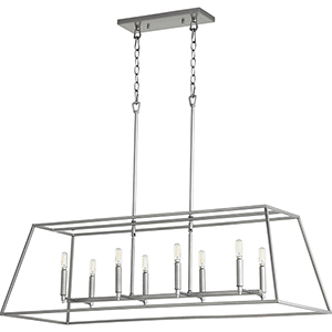 Windsor Brushed Nickel 17-Inch Eight-Light Pendant