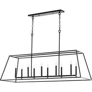 Windsor Black 10-Light Pendant
