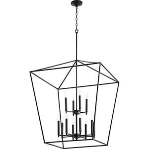 Windsor Black 12-Light Pendant