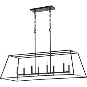 Windsor Black 17-Inch Eight-Light Pendant