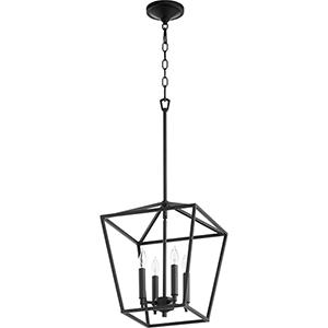 Windsor Black Four-Light Pendant