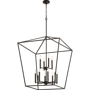 Windsor Oiled Bronze 12-Light Pendant