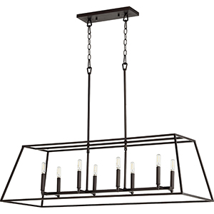 Windsor Oiled Bronze 17-Inch Eight-Light Pendant