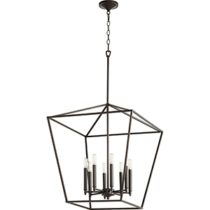 Windsor Oiled Bronze 22-Inch Eight-Light Pendant