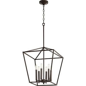 Windsor Oiled Bronze 17-Inch Six-Light Pendant