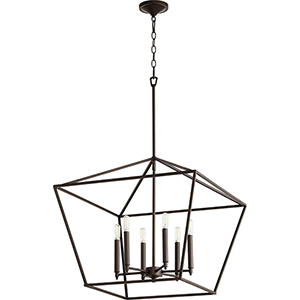 Windsor Oiled Bronze 24-Inch Six-Light Pendant