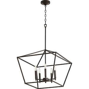 Windsor Oiled Bronze Five-Light Pendant