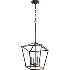 Windsor Oiled Bronze Four-Light Pendant