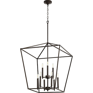 Windsor Oiled Bronze Nine-Light Pendant