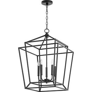 Woodrow Black Five-Light Pendant