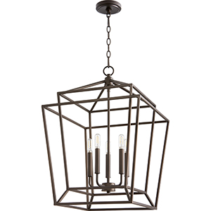 Woodrow Oiled Bronze Five-Light Pendant