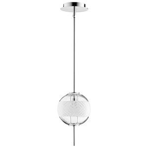 Brent Polished Nickel LED Mini Pendant