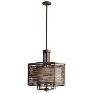 Coombs Bronze Eight-Light Chandelier