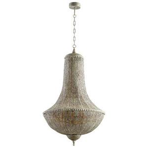 Dulwich Antique Silver Five-Light Pendant