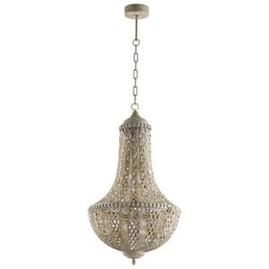 Dulwich Antique Silver One-Light Pendant