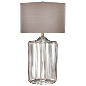 Jean Antique Brass One-Light Table Lamp