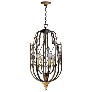 Rouge Oil Rubbed Bronze 20-Inch Eight-Light Pendant