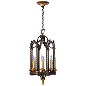 Rouge Oil Rubbed Bronze 14-Inch Eight-Light Pendant