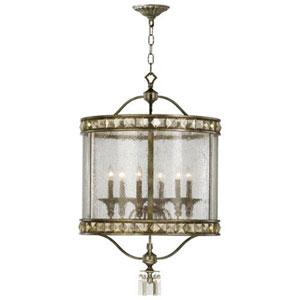 Villette Bronze Six-Light Chandelier