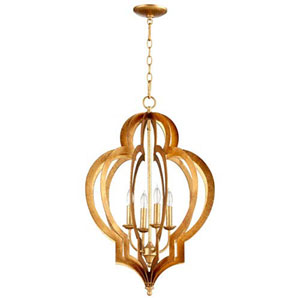 West Gold Four-Light Chandelier