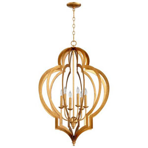 West Gold Six-Light Chandelier