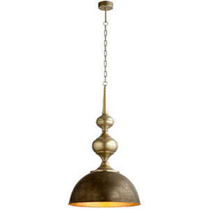 Yardley Bronze and Gold One-Light Pendant