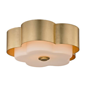 Nina Gold Leaf Two-Light 14-Inch Flush Mount