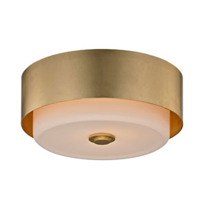 Nina Gold Leaf Two-Light 13-Inch Round Flush Mount