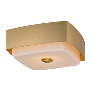 Nina Gold Leaf Two-Light 13-Inch Square Flush Mount