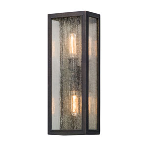 Ira Vintage Bronze Two-Light Outdoor Wall Lantern
