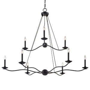 Lena Iron Nine-Light Chandelier