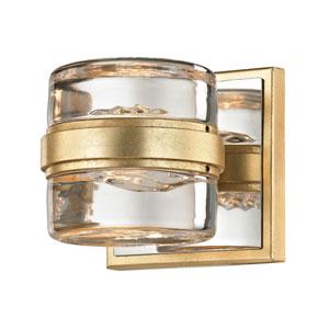 Colette Gold Leaf and Polished Chrome LED Bath Vanity