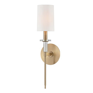 William Aged Brass One-Light Wall Sconce