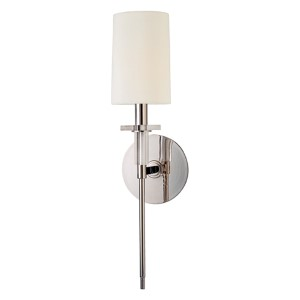 William Polished Nickel Wall Sconce