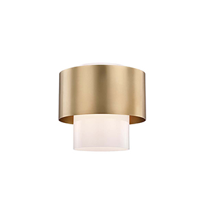 Marli Aged Brass One-Light Flush Mount