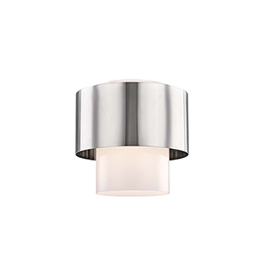 Marli Polished Nickel One-Light Flush Mount