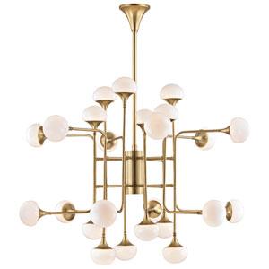 Maverick Aged Brass 24-Light LED Chandelier