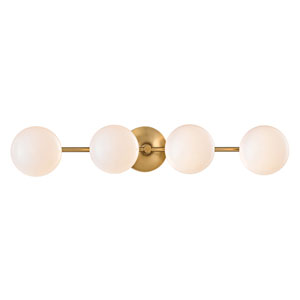 Maverick Aged Brass Four-Light LED Bath Vanity