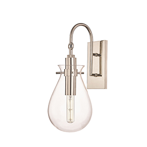 Delta Polished Nickel LED Wall Sconce